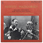 LDS-2513 - Brahms Concerto For Violin And Cello ~ Heifetz-Piatigorsky