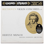 LSC-1992 - Beethoven — Violin Concerto, Op. 61 ~ Heifetz; Boston Symphony Orchestra, Munch
