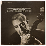 LSC-2109 - Walton — Cello Concerto • Bloch — Schelomo ~ Piatigorsky • Boston • Munch