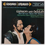 LSC-2309 - Saint-Saens — Samson And Delilah (Abridged) ~ Stevens • Del Monaco • Harvuot • Flagello • Cleva