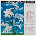LSC-2312 - J. S. Bach — Cantatas Nos. 56 And 82 ~ Harrell • Shaw • RCA Victor Orchestra And Chorus