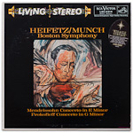 LSC-2314 - Mendelssohn — Concerto In E Minor • Prokofieff — Concerto In G Minor ~ Heifetz • Munch, Boston Symphony