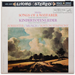 LSC-2371 - Mahler — Songs Of A Wayfarer • Kindertotenlieder ~ Forrester • Boston Symphony, Munch