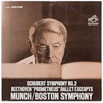 "LSC-2522 - Schubert — Symphony No. 2 • Beethoven — ""Prometheus"" Ballet Excerpts ~ Munch • Boston Symphony"