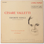 LSC-2540 - Cesare Valletti — Favorite Songs (From His Town Hall Recital, 1960)