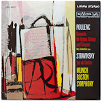 LSC-2567 - Poulenc — Concerto For Organ, Strings And Timpani • Stravinsky — Jeu De Cartes ~ Zamkochian • Munch
