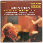 LSC-2575 - Chopin — Concerto No. 1 ~ Rubinstein • Skrowaczewski • New Symphony Orchestra Of London