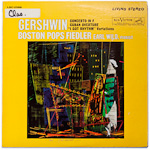 LSC-2586 - Gershwin — Concerto In F • Cuban Overture ~ Wild • Boston Pops Orchestra, Fiedler
