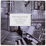 LSC-2649 - Bach Organ Music, Vol. 2 ~ Carl Weinrich