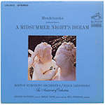 LSC-2673 - Mendelssohn — Incidental Music To A Midsummer Night's Dream ~ Boston Symphony / Leinsdorf